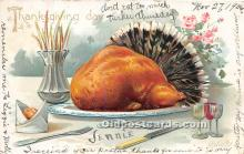 hol061265 - Thanksgiving Old Vintage Antique Postcard Post Card