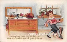 hol061268 - Thanksgiving Old Vintage Antique Postcard Post Card