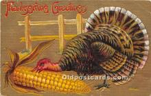 hol061272 - Thanksgiving Old Vintage Antique Postcard Post Card