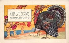 hol061273 - Thanksgiving Old Vintage Antique Postcard Post Card