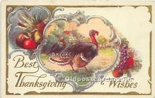hol061274 - Thanksgiving Old Vintage Antique Postcard Post Card