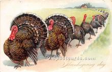 hol061275 - Thanksgiving Old Vintage Antique Postcard Post Card