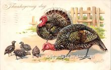 hol061276 - Thanksgiving Old Vintage Antique Postcard Post Card