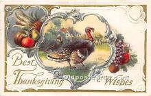 hol061277 - Thanksgiving Old Vintage Antique Postcard Post Card