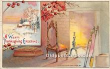 hol061279 - Thanksgiving Old Vintage Antique Postcard Post Card