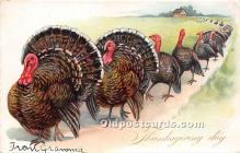 hol061280 - Thanksgiving Old Vintage Antique Postcard Post Card