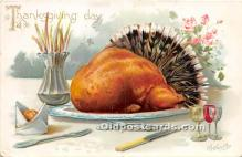 hol061281 - Thanksgiving Old Vintage Antique Postcard Post Card