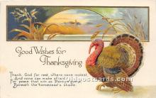 hol061282 - Thanksgiving Old Vintage Antique Postcard Post Card