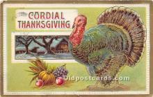 hol061285 - Thanksgiving Old Vintage Antique Postcard Post Card