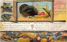 hol061287 - Thanksgiving Old Vintage Antique Postcard Post Card