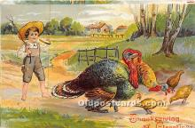 hol061288 - Thanksgiving Old Vintage Antique Postcard Post Card