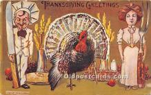 hol061289 - Thanksgiving Old Vintage Antique Postcard Post Card