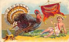 hol061293 - Thanksgiving Old Vintage Antique Postcard Post Card