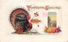 hol061294 - Thanksgiving Old Vintage Antique Postcard Post Card