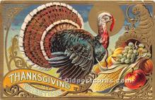 hol061295 - Thanksgiving Old Vintage Antique Postcard Post Card