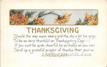 hol061301 - Thanksgiving Old Vintage Antique Postcard Post Card