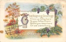 hol061304 - Thanksgiving Old Vintage Antique Postcard Post Card