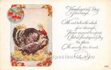 hol061314 - Thanksgiving Old Vintage Antique Postcard Post Card