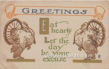 hol061315 - Thanksgiving Old Vintage Antique Postcard Post Card