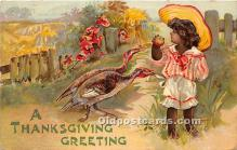 hol061325 - Thanksgiving Old Vintage Antique Postcard Post Card