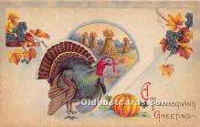 hol061326 - Thanksgiving Old Vintage Antique Postcard Post Card