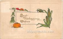hol061334 - Thanksgiving Old Vintage Antique Postcard Post Card