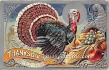 hol061335 - Thanksgiving Old Vintage Antique Postcard Post Card