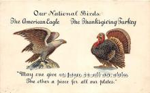 hol061337 - Thanksgiving Old Vintage Antique Postcard Post Card