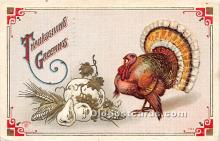 hol061338 - Thanksgiving Old Vintage Antique Postcard Post Card