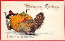 hol061341 - Thanksgiving Old Vintage Antique Postcard Post Card