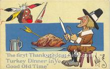 hol061342 - Thanksgiving Old Vintage Antique Postcard Post Card