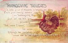 hol061343 - Thanksgiving Old Vintage Antique Postcard Post Card