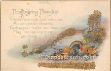 hol061344 - Thanksgiving Old Vintage Antique Postcard Post Card