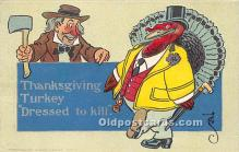 hol061345 - Thanksgiving Old Vintage Antique Postcard Post Card