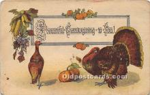 hol061346 - Thanksgiving Old Vintage Antique Postcard Post Card