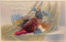 hol061348 - Thanksgiving Old Vintage Antique Postcard Post Card