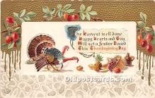 hol061350 - Thanksgiving Old Vintage Antique Postcard Post Card
