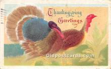 hol061354 - Thanksgiving Old Vintage Antique Postcard Post Card