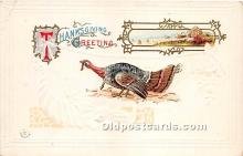 hol061355 - Thanksgiving Old Vintage Antique Postcard Post Card