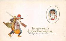 hol061356 - Thanksgiving Old Vintage Antique Postcard Post Card