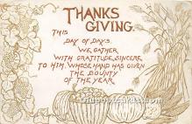 hol061357 - Thanksgiving Old Vintage Antique Postcard Post Card