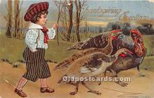 hol061358 - Thanksgiving Old Vintage Antique Postcard Post Card