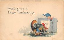 hol061360 - Thanksgiving Old Vintage Antique Postcard Post Card