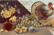 hol061361 - Thanksgiving Old Vintage Antique Postcard Post Card