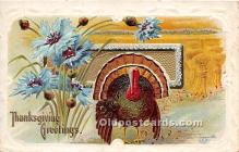 hol061362 - Thanksgiving Old Vintage Antique Postcard Post Card