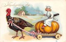 hol061363 - Thanksgiving Old Vintage Antique Postcard Post Card