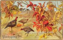 hol061364 - Thanksgiving Old Vintage Antique Postcard Post Card