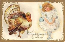 hol061365 - Thanksgiving Old Vintage Antique Postcard Post Card