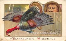 hol061366 - Thanksgiving Old Vintage Antique Postcard Post Card