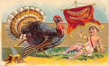 hol061367 - Thanksgiving Old Vintage Antique Postcard Post Card